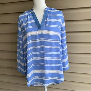 •Society Girl• Popover Striped Tunic - Size XL